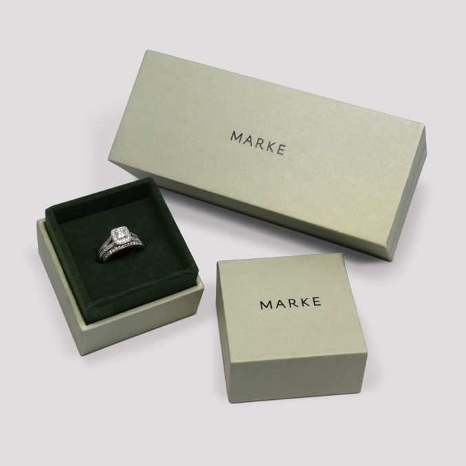 Marke rigid set up jewelry box collection