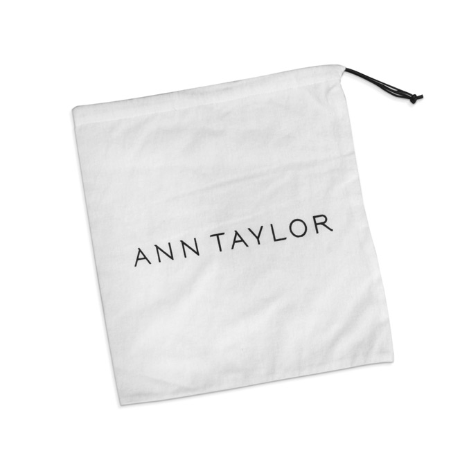 bleached white cotton pouch with printing